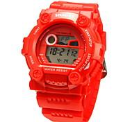 Жен. Повседневные часы электронные часы Цифровой LCD Защита от влаги Многофункциональный силиконовый Группа Cool