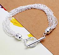 Недорогие -новый стиль 21см женские серебряные медные браслеты