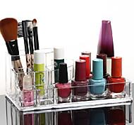Недорогие -акриловые прозрачные косметика стенд хранения макияж кисти горшок Квадратный косметические организатор