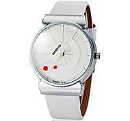 Unisex Simple Round Dial Pu Band Quartz Analog Wrist Watch (Assorted Colors) Cool Watches Unique Watches Fashion Watch