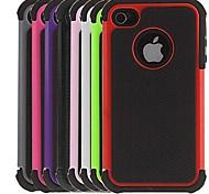 2-в-1 Футляр Дизайн шестигранной шаблон с силиконовым внутренней стороне обложки для IPhone 4/4S (разных цветов)