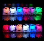cheap -12pcs Color Changing Ice Cubes LED light Party Wedding Bar Restaurant