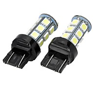 Marsing T20 5W 400lm 18 x SMD 5050 LED 7000K White Light Car Brake Steering  Reverse Lamp (12V  2 PCS)