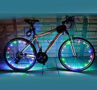 Luces para bicicleta luces de la rueda LED Ciclismo Impermeable Color variable AA Lumens Batería Ciclismo-FJQXZ