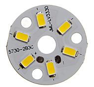3W 250-300LM Теплый 5730SMD Интегрированный модуль Белый свет светодиодный (9-12V)