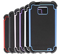2-in-1 Design Hexagon Pattern Hard Case with Silicone Inside Cover  for Samsung Galaxy S2 I9100