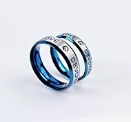 Sweet Love Devotion CZ Diamonds Inlaid Titanium Steel Couple Rings Promis rings for couples