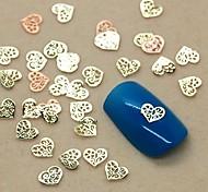 Недорогие -200шт полые форме сердца кусочек металла украшение искусства ногтя