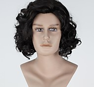 New Movie Cosplay Game Jon Snow Short Curly Black Cosplay Wig Halloween/Christmas/New Year