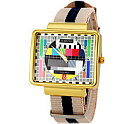 JUBAOLI® Men's TV Screen Pattern Strip Fabric Band Quartz Wrist Watch (Assorted Colors) Cool Watch Unique Watch