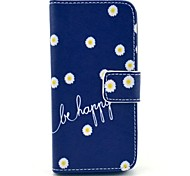 cheap -Case For iPhone 5 Apple iPhone 5 Case Card Holder Wallet with Stand Flip Pattern Full Body Cases Flower Hard PU Leather for iPhone SE/5s