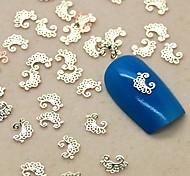 Недорогие -200шт цветок кружева форма ломтик золотой металл украшение искусства ногтя