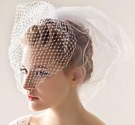 Недорогие -Свадебные вуали Два слоя Короткая фата 10-20 см Тюль Белый Платье-трапеция, бальное платье, платье-принцесса, платье-чехол, платье-русалка