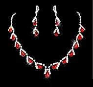 Свадебный комплект ювелирных изделий, ожерелье и серьги