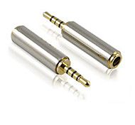 2.5mm Male to 3.5mm Female Cellphone/Earphone Adapter