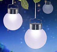 cheap -1-LED White Outdoor Solar Hanging Plastic Ball Lights For Decor