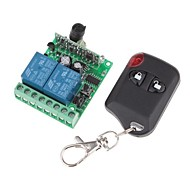 12V 2-Channel Wireless Remote Power Relay Module with Remote Controller (DC28V-AC250V)