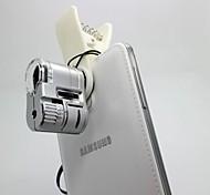 Недорогие -63x привело головного света и ультрафиолетового света увеличения микроскопа для IPhone / IPad и других сотовый телефон