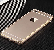 abordables -Funda Para Apple iPhone 6 iPhone 6 Plus Ultrafina Marco Antigolpes Color sólido Dura Metal para iPhone 6s Plus iPhone 6s iPhone 6 Plus