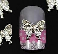 10шт красоты бабочки горный хрусталь ювелирные аксессуары для кончики пальцев украшения искусства ногтя
