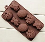 Недорогие -Пасхальный кролик корзины форма яйца торт льда желе для шоколада, силиконовые 20,8 × 10,5 × 2,8 см (8,2 × 4,1 × 1,1 дюйма)