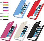 PU Leather Case & Touch Pen for iPhone 4/4S