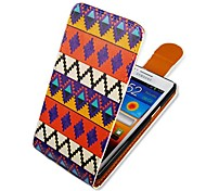 For Samsung Galaxy Case Flip / Pattern Case Full Body Case Lines / Waves PU Leather Samsung S2