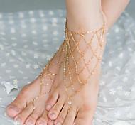 Недорогие -shixin® старинные кристалл нерегулярные чистая форма босиком сандалии (золотой, серебряный, бронзовый) (1 шт)