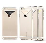Für iPhone 6 Hülle / iPhone 6 Plus Hülle Transparent Hülle Rückseitenabdeckung Hülle Einheitliche Farbe Hart PCiPhone 6s Plus/6 Plus /