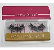 baratos -1 par de cabelo fibra sintética mão de alta qualidade feitos brilho longos e grossos estilo cannetille cílios postiços cfe462 #
