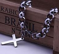 Men's Fashion Personality Titanium Steel Manual Cross Bracelets