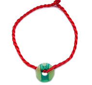 China Red Classic Red String Bracelet with Chinese Jade Symbol Propitious