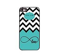 Недорогие -персональный подарок морская волна и любовь дизайн металлический корпус для iPhone 5/5 секунд