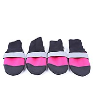 Dog Shoes & Boots Waterproof Keep Warm Solid Rose Green Blue