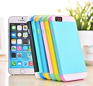 Three-in-one Design PC and Silicone Cover with Stand for iPhone 6 (Assorted Colors)