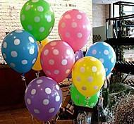 Недорогие -Цветной шар с белой точкой - набор 10 (больше цветов)