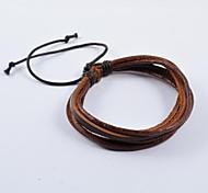 мужская мода многооборотные кожаные браслеты