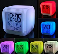 cheap -Coway Colorful Decompression LED Alarm Clock Nightlight High Quality