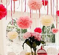 8 дюймовые бумаги цветок Декорации для вечеринок - набор из 4 (больше цветов)