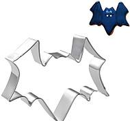 halloween tema bat cortador forma de biscoito, l 7,5 centímetros xw 7 centímetros xh 2,5 centímetros, em aço inoxidável