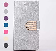 Bling Bling Pattern PU Leather Cover with Card Slot  for iPhone 6 (Assorted Colors)