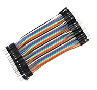 cheap -DIY 1-Pin Male to Male DuPont Breadboard Jumper Wires (40 PCS/10cm)