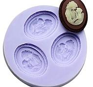Недорогие -мать и сын помадкой торт шоколадный смолы глины конфеты силиконовые формы, l6m * w6cm * h1cm