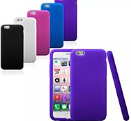 cheap -Case For Apple iPhone 6 iPhone 6 Plus Shockproof Back Cover Solid Color Soft Silicone for