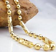 Ouro 18k banhado a cobre colar 50 centímetros