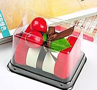 Недорогие -подарок на день рождения торт форма волокна творческой полотенце (случайный цвет)