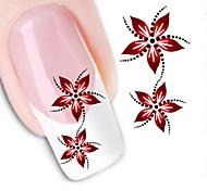 передачи воды печати ногтей наклейки xf1459