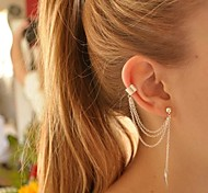 Women's Clip Earrings Earrings Ear Cuffs Personalized European Fashion Costume Jewelry Silver Plated Alloy Leaf Jewelry For Party