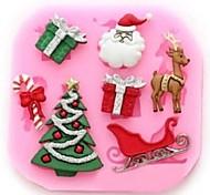 Недорогие -рождественская елка олень claus подарок fondant торт инструменты торт плесень, инструмент для выпечки