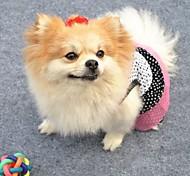 Gatto Cane Vestiti Abbigliamento per cani Cosplay Matrimonio A pois Bianco Nero